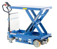 Powered Drive and Powered Lift Hydraulic Scissor Cart
