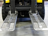Roller Forks for Pallet-Less Handling
